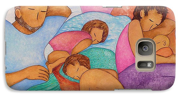 Galaxy Case featuring the painting The Wendts Family Bed by Gioia Albano