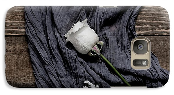 Galaxy Case featuring the photograph The White Rose by Kim Hojnacki