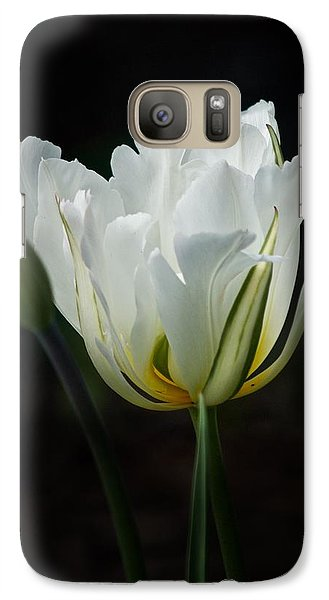 Galaxy Case featuring the photograph The White Tulip by Richard Cummings