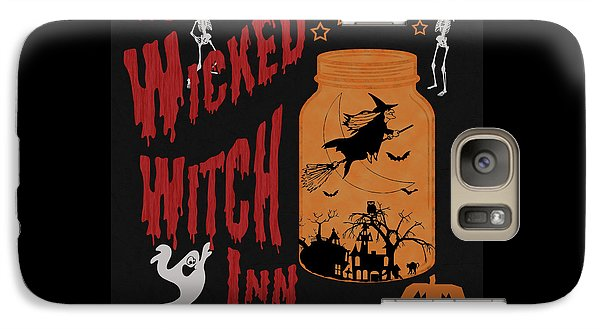 Galaxy Case featuring the painting The Wicked Witch Inn by Georgeta Blanaru