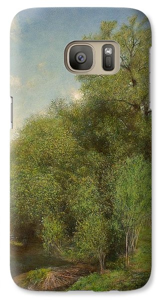 Galaxy Case featuring the painting The Willow Patch by Wayne Daniels