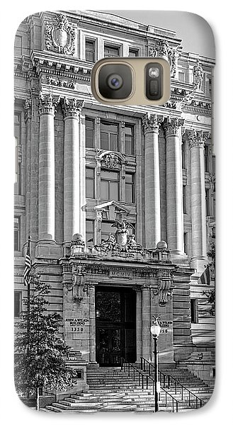 Galaxy Case featuring the photograph The Wilson Building In Black And White by Greg Mimbs