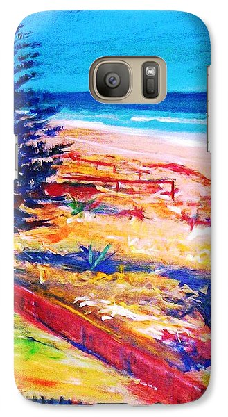 Galaxy S7 Case featuring the painting The Winter Dunes by Winsome Gunning