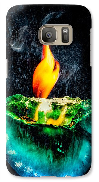 Galaxy S7 Case featuring the photograph The Winter Of Fire And Ice by Rikk Flohr