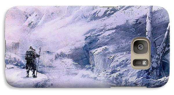 Galaxy Case featuring the painting The Winter Scout by Jean Moore