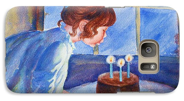Galaxy Case featuring the painting The Wish by Marilyn Jacobson