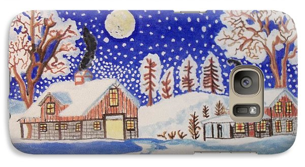Galaxy Case featuring the painting The Wonder Of Winter by Connie Valasco