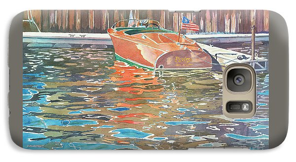Galaxy Case featuring the painting The Wooden Boat by LeAnne Sowa