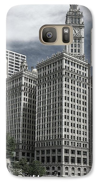 Galaxy Case featuring the photograph The Wrigley Building by Alan Toepfer