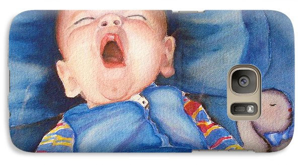 Galaxy Case featuring the painting The Yawn by Marilyn Jacobson
