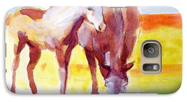 Galaxy Case featuring the painting The Yearling by Ed  Heaton