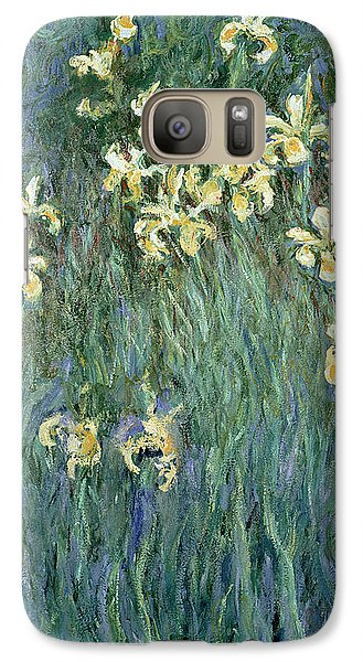 The Yellow Irises Galaxy Case by Claude Monet