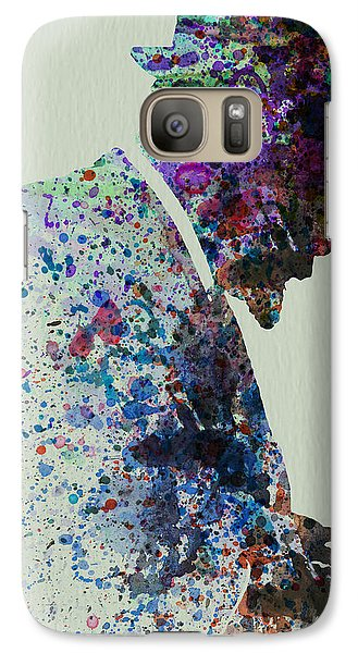 Saxophone Galaxy S7 Case - Thelonious Monk Watercolor 1 by Naxart Studio