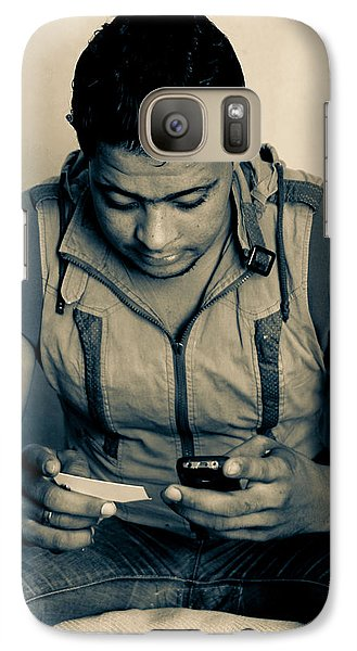 Galaxy Case featuring the photograph There Is A World Outside Your Phone by Jez C Self