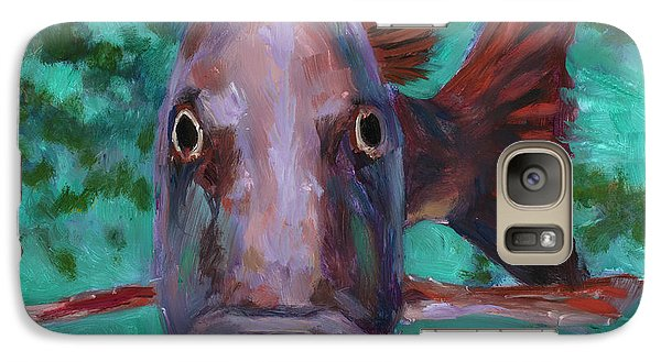 Galaxy Case featuring the painting There's Something Fishy Going On Here by Billie Colson