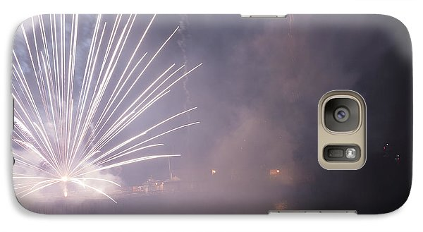Galaxy Case featuring the photograph They All Came Out To See The Show by Lora Lee Chapman
