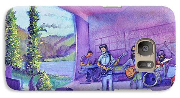 Galaxy Case featuring the painting Thin Air At Dillon Amphitheater by David Sockrider