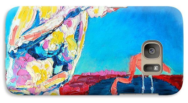 Galaxy Case featuring the painting Thinking Woman by Ana Maria Edulescu