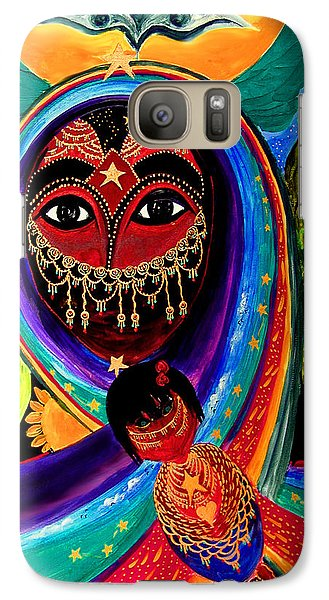 Galaxy Case featuring the painting Mother And Child by Marina Petro