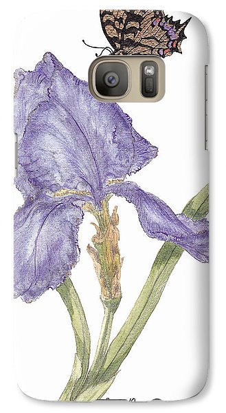 Galaxy Case featuring the painting This Great Purple Butterfly by Stanza Widen