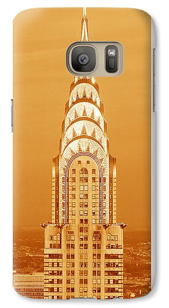 Chrysler Building At Sunset Galaxy S7 Case