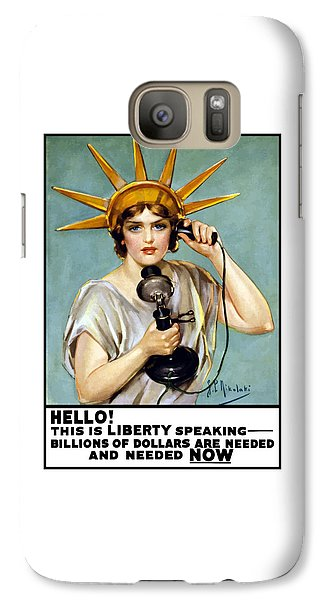 This Is Liberty Speaking - Ww1 Galaxy S7 Case by War Is Hell Store