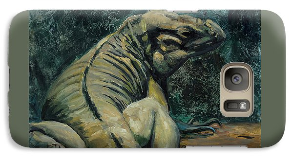 Galaxy Case featuring the painting This Is My Good Side by Billie Colson