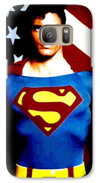 Galaxy Case featuring the digital art This Is Superman by Saad Hasnain
