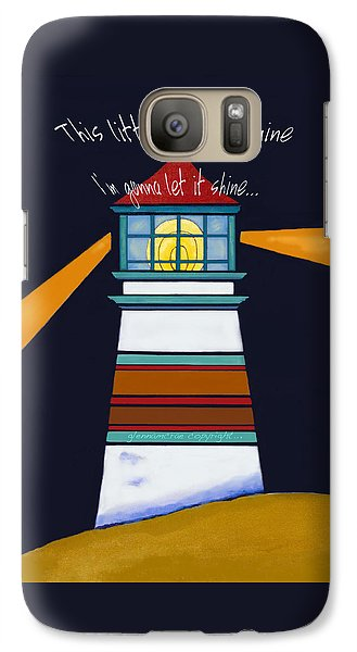 Galaxy Case featuring the painting This Little Light Of Mine by Glenna McRae