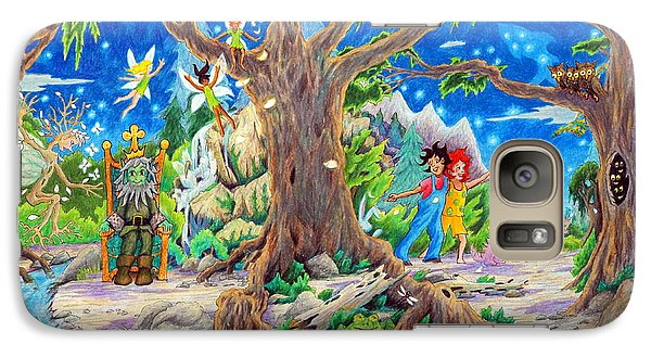 Galaxy Case featuring the painting This Magical Land by Matt Konar