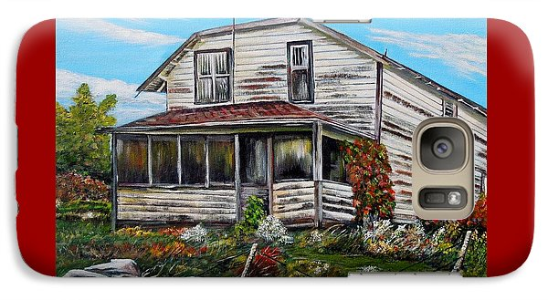 Galaxy Case featuring the painting This Old House 2 by Marilyn  McNish