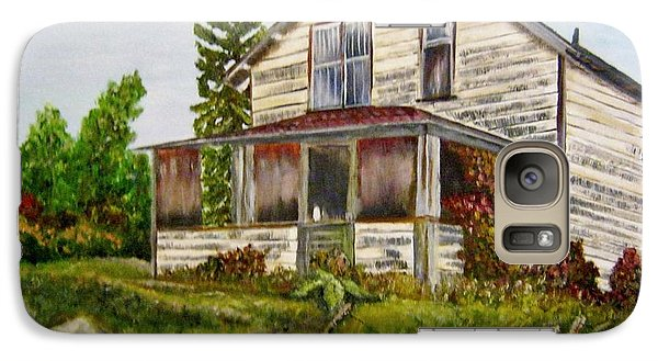 Galaxy Case featuring the painting This Old House by Marilyn  McNish