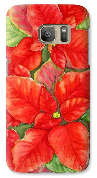 Galaxy Case featuring the painting This Year's Poinsettia 1 by Inese Poga