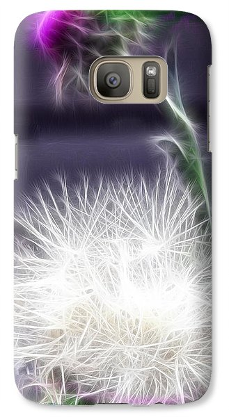 Galaxy Case featuring the photograph Thistle by EricaMaxine  Price