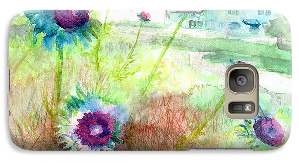 Galaxy Case featuring the painting Thistles #1 by Andrew Gillette