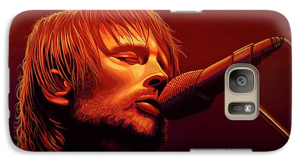 Drum Galaxy S7 Case - Thom Yorke Of Radiohead by Paul Meijering