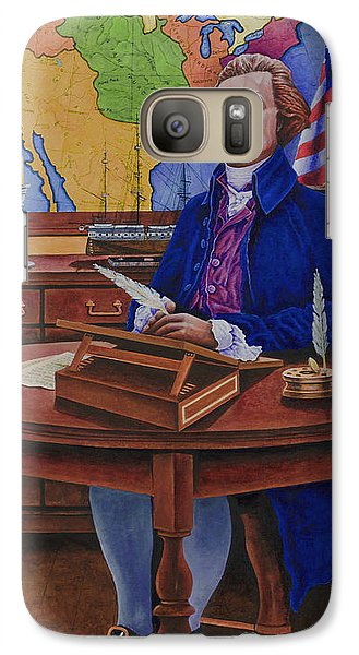 Galaxy Case featuring the painting Thomas Jefferson by Michael Frank