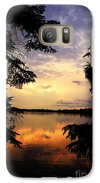 Galaxy Case featuring the photograph Thomas Lake Sunset 2 by Larry Ricker