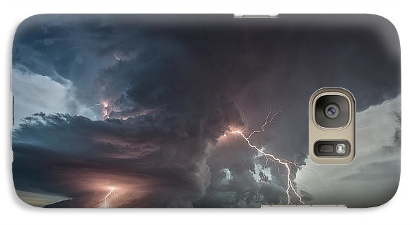 Galaxy Case featuring the photograph Thor Strikes Again by James Menzies