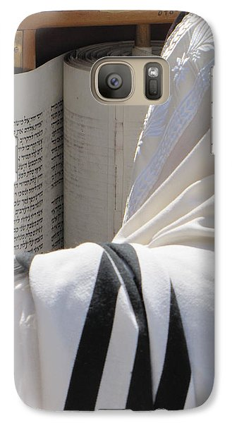 Galaxy Case featuring the photograph Thora Reading At The Western Wall by Yoel Koskas
