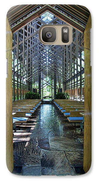 Galaxy Case featuring the photograph Thorncrown Chapel Entrance by Cricket Hackmann