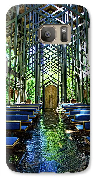 Galaxy Case featuring the photograph Thorncrown Chapel Serenity by Cricket Hackmann