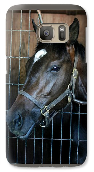 Galaxy Case featuring the photograph Thoroughbred by Cathy Harper