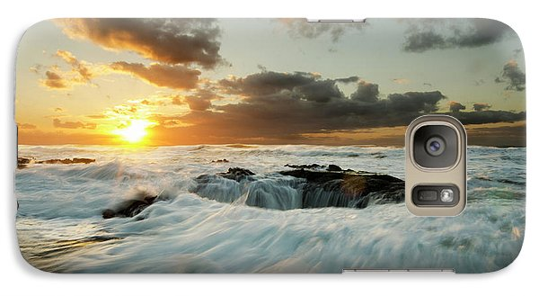 Galaxy Case featuring the photograph Thors Well Cape Perpetua 1 by Bob Christopher