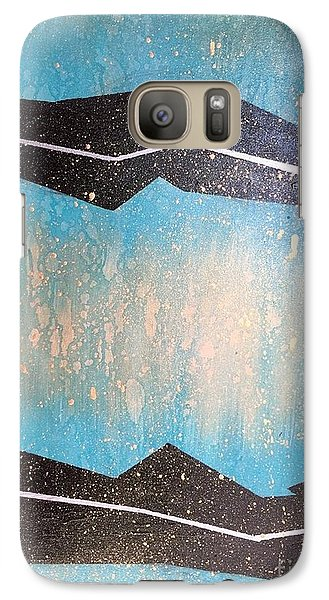 Galaxy Case featuring the painting Those Who Enter This Land by Theresa Kennedy DuPay