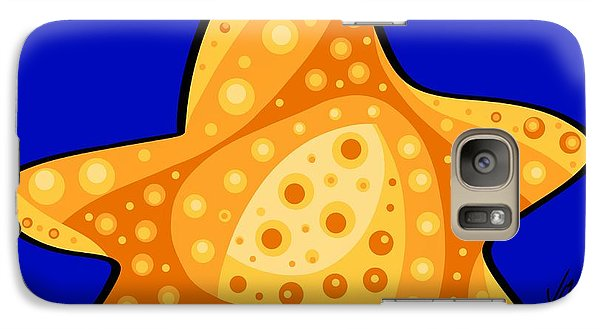 Galaxy Case featuring the painting Thoughts And Colors Series Starfish by Veronica Minozzi