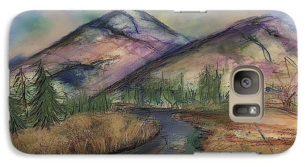 Galaxy Case featuring the painting Thoughts Of Glacier by Annette Berglund