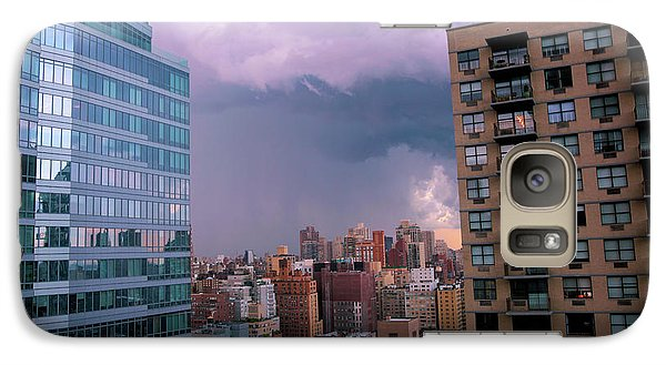 Galaxy Case featuring the photograph Threatening Storm - Manhattan - 2016 by Madeline Ellis
