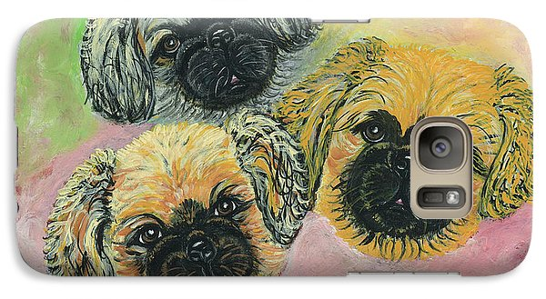 Galaxy Case featuring the painting Three Amigos by Ania M Milo