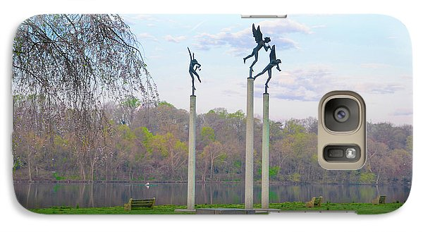 Galaxy Case featuring the photograph Three Angels In Spring - Kelly Drive Philadelphia by Bill Cannon